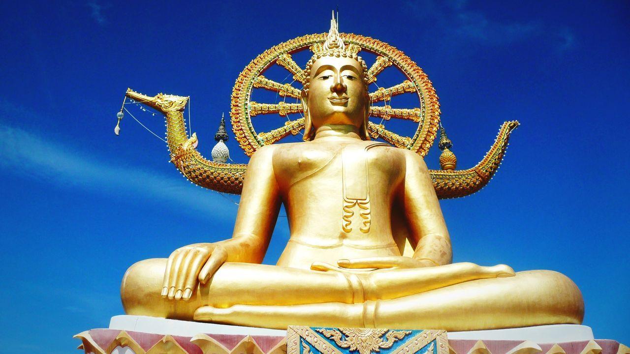 Beautiful stock photos of gold, Art, Blue, Buddha, Buddhism