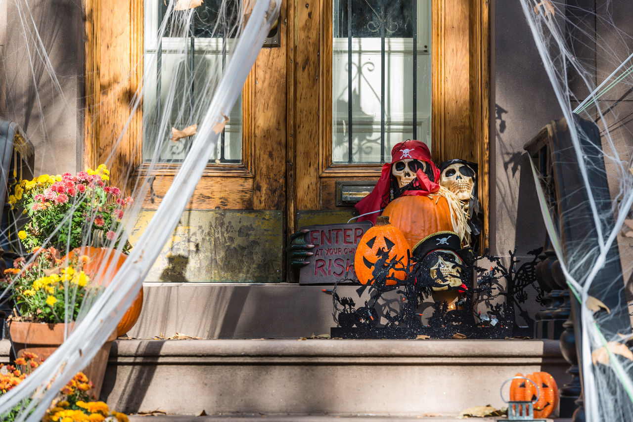 Beautiful stock photos of halloween, Anthropomorphic Face, Architecture, Building Exterior, Built Structure