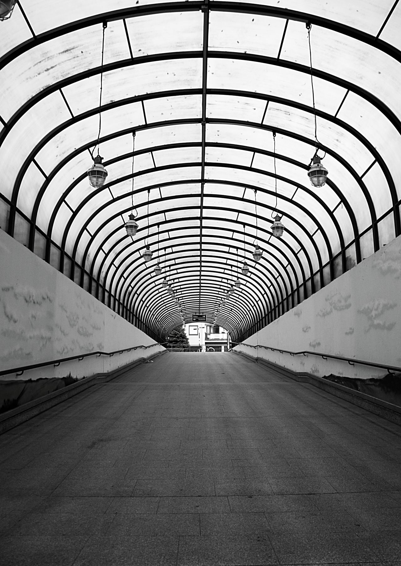 Tunel Architecture B&w Photography Modern Tunnel
