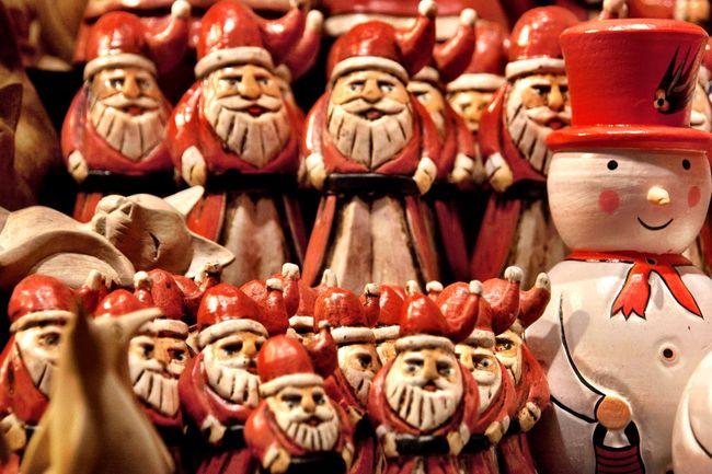 German market santas Christmas Santa German Market Leeds Christmas Around The World Snowman