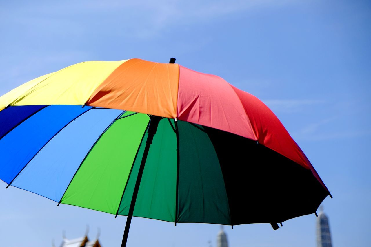 Colors Colorful Umbrella Sky Wallpaper Bangkok Thailand Day Multi Colored Vibrant Color Hanging Outdoors Close-up WatPhraKaew