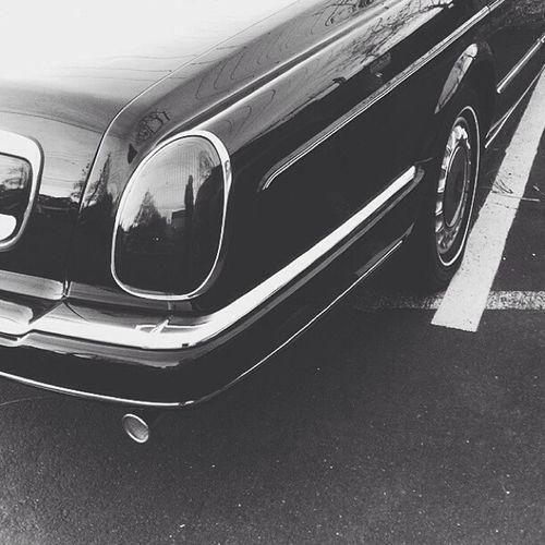 My boss, rollin' in a Rolls. Vscocam Blackandwhite Cars Mustbenice luxury