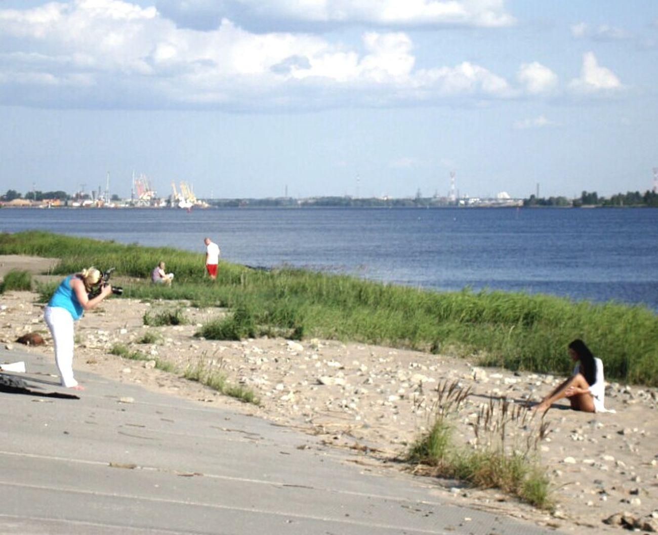 Riga On The River Taking Photos Enjoying Life