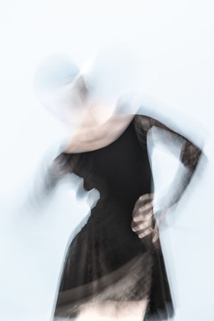 Abstract Abstract Photography Arts Culture And Entertainment Blurred Blurred Motion Blurred Movement Close-up Dance Dance Performance Dancer Day Experimental Experimental Photography Folkwang University Hair Care Indoors  One Person One Woman Only One Young Woman Only People Rear View White Background Women Young Adult Young Women