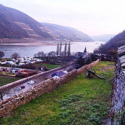 Burgreichenstein Landscape Landschaft Aussicht Castle Burg Keep  Rhein Rheinufer Cannon Kanone