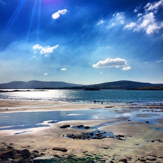 Sunny day ☀️👌🏻 Whitestrand Kerry Nature Beach Beachphotography Sea And Sky
