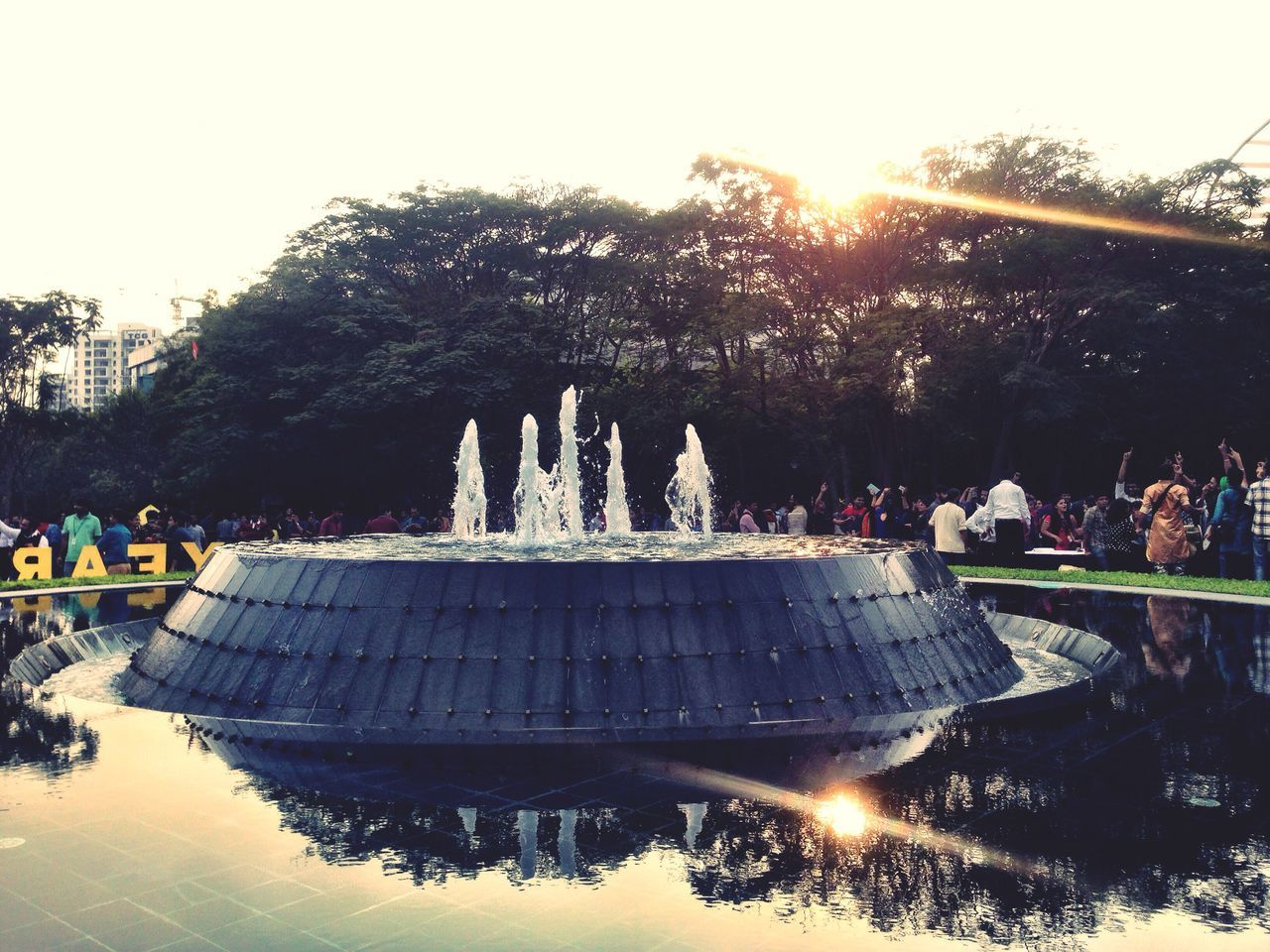 Reflection Of The Dusk 🕟...the Sunset_collection Water Reflections Check This Out Fountain Showcase: January Capture The Moment IPhoneography India