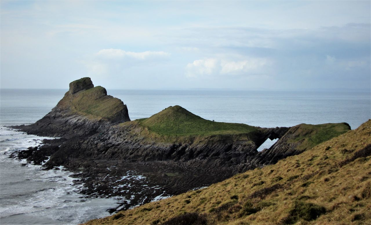 Worm's Head from the Peninsular Beach Beauty In Nature Coastline Gower Gower Coast Gower Peninsular South Wales Hiking Hiking Adventures Horizon Over Water Idyllic Outdoors Scenics Sea Sea And Sky Sea View Swansea Tranquil Scene Tranquility Water Worm's Head