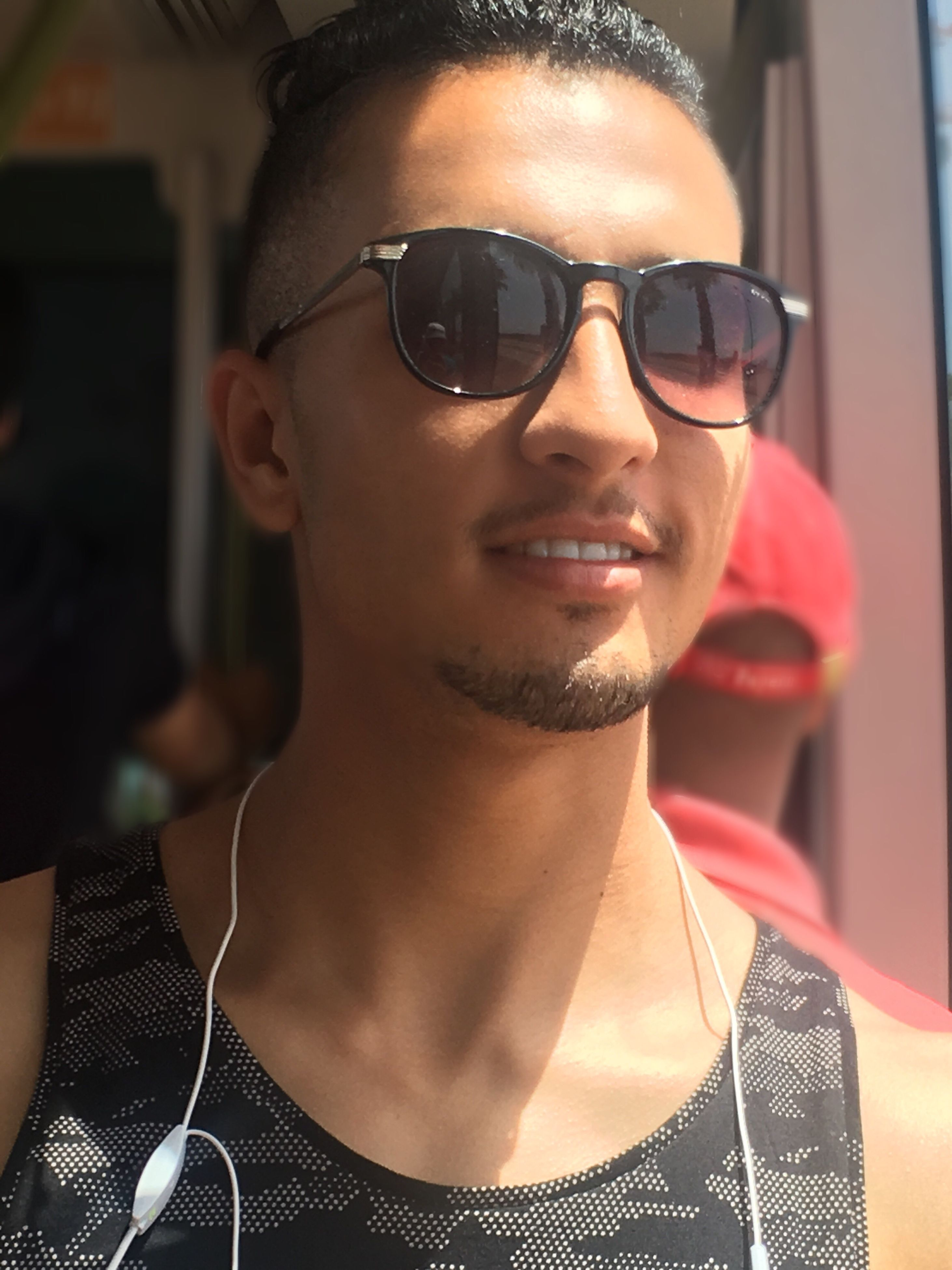 portrait, person, lifestyles, front view, sunglasses, headshot, leisure activity, casual clothing, eyeglasses, close-up, mid adult men, focus on foreground, confidence, toothy smile, day