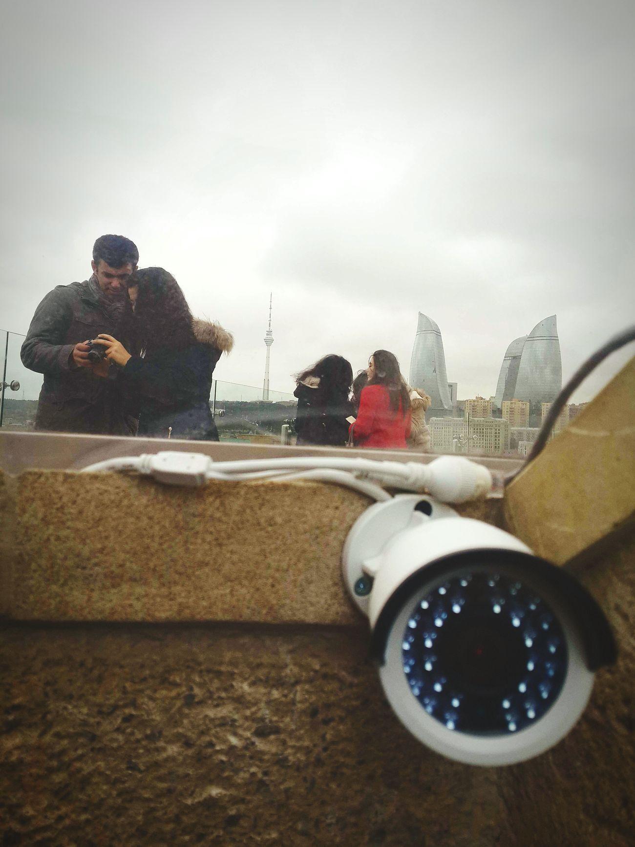 Qiz Qalasi Securitycam People Photography Baku Azerbaijan