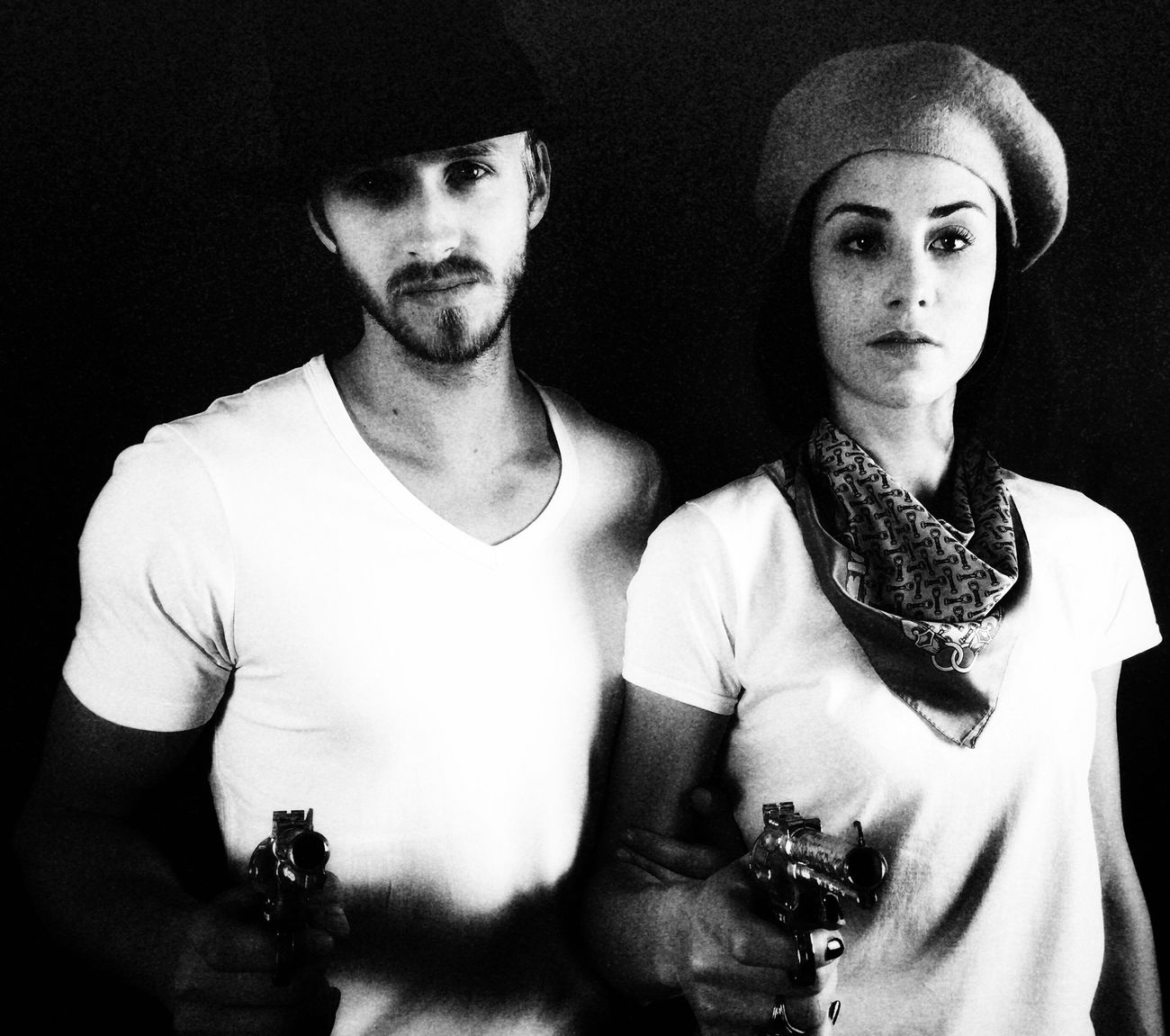 Bonnie and Clyde... Model Shoot Actor Actress Simple Beauty Onlywithiphone Photoshoot Moviestar MOVIE Faces Of EyeEm Taking Photos IPhoneography Blackandwhite Photography Blackandwhite Model Black & White