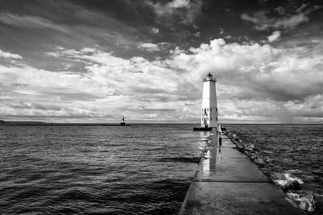 Beauty In Nature Calm Cloud Cloud - Sky Cloudy Day Dramatic Sky Leading Monochrome Photography Nature No People Ocean Outdoors Pier Scenics Sea Sky The Way Forward Tranquil Scene Tranquility Water Waterfront