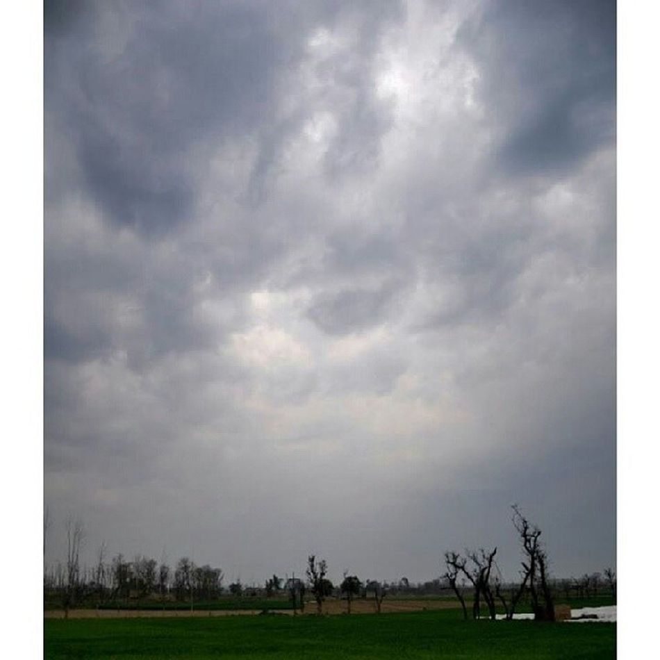 Today the city adopts the overcast look Clouds DarkFigure Darkclouds Fields Colors overcast Mardan KP KPK KhyberPakhtoonkhawa Pakistan