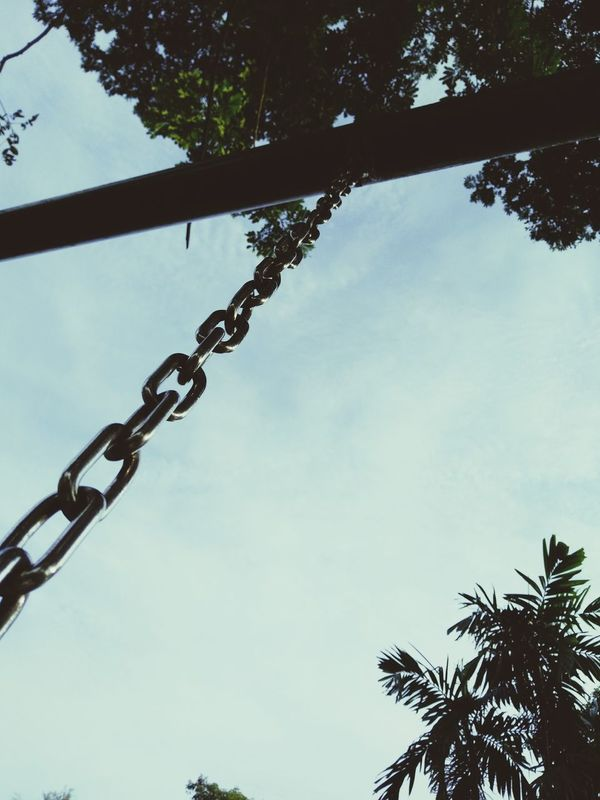 Back To Childhood  Swing Morning Looking Up At The Sky What's On Your Mind? Dream? Live For The Story Place Of Heart