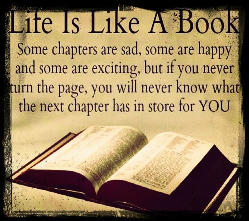 I think my life is a series. But i keep on fliping the page, sometimes i go back and re read but i always keep on going forward. Life Living Moving Forward
