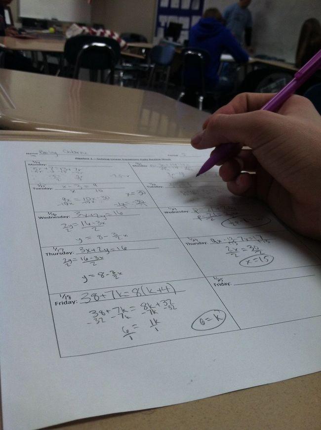 Easiest subject- Algebra