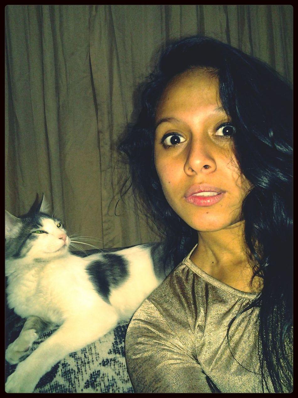 Selfie con ron ron ron <3 Lindo Gatito Sueño