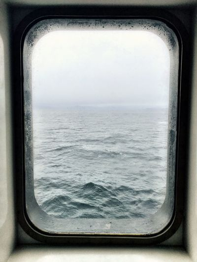 Window Transportation Sea Day Mode Of Transport Scenics Water No People Nature Sky Landscape Close-up Horizon Over Water Outdoors Shotoniphone7 IPhoneography Rogaland Rough Sea Rainy Ferry Through The Window Norway Minimalism Beauty In Nature