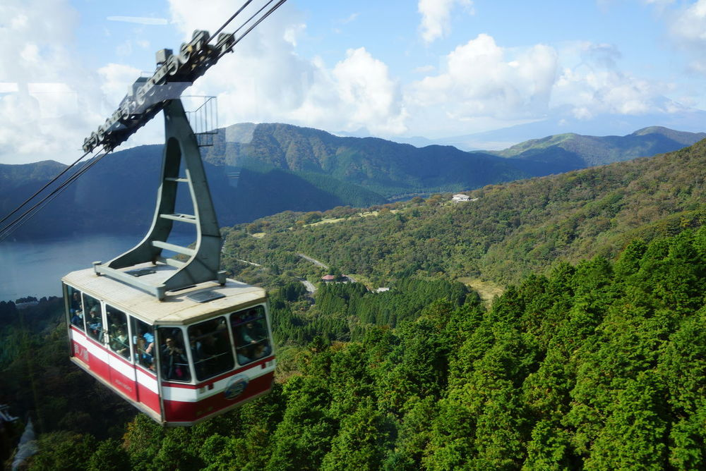 Beauty In Nature Day Green Color Horizontal Landscape Mountain Mountain Range Nature No People Outdoors Overhead Cable Car Scenics Sky Tree
