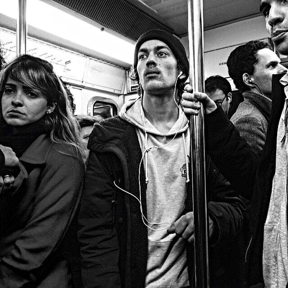 """""""You, Lost and lonely, You, Just like heaven"""" 🎶🎼🎶 Passenger Subway Train City Life Embrace Urban Life Capture The Moment Urbanphotography EyeEm Black&white! Bnw_collection Black And White Collection  Monochrome Personal Project EyeEm Bnw Poetry In Pictures Urban Exploration Real People Subway Life Subway People Bnwportrait Exploring The Unknown"""