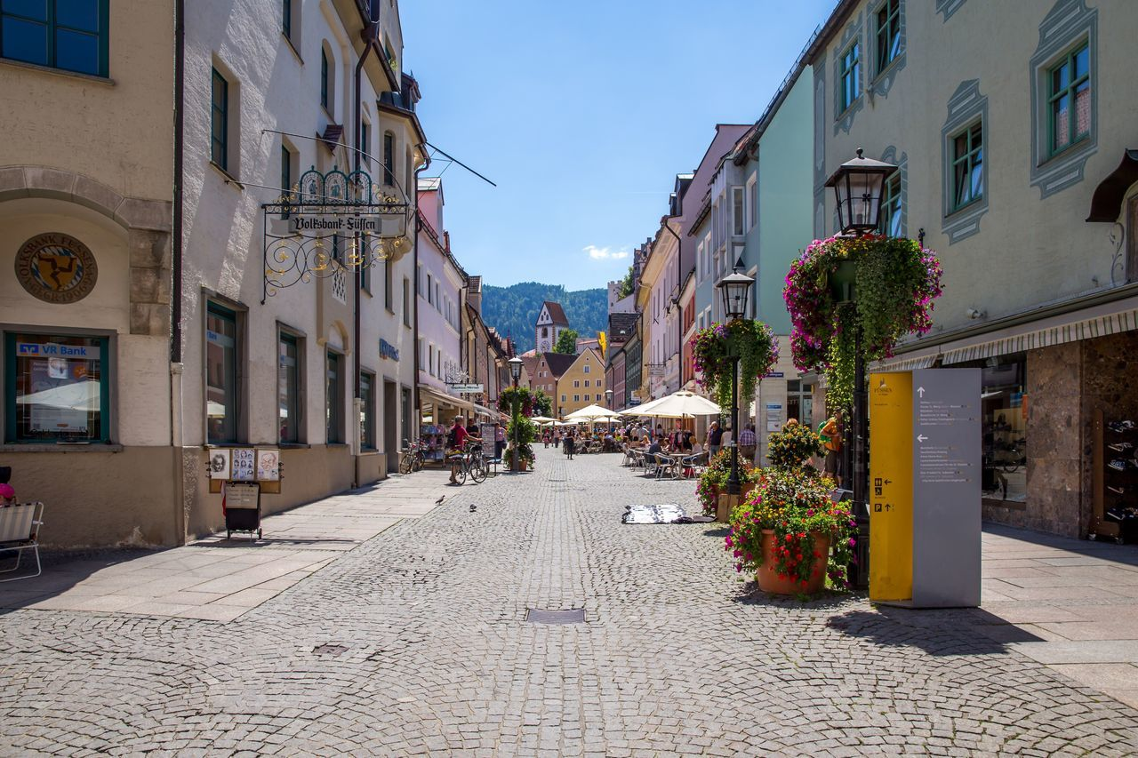 Architecture Building Exterior Built Structure Outdoors City The Way Forward Day Sky No People Bayern Bayern Germany Füssen, Bayern, Deutschland Summertime