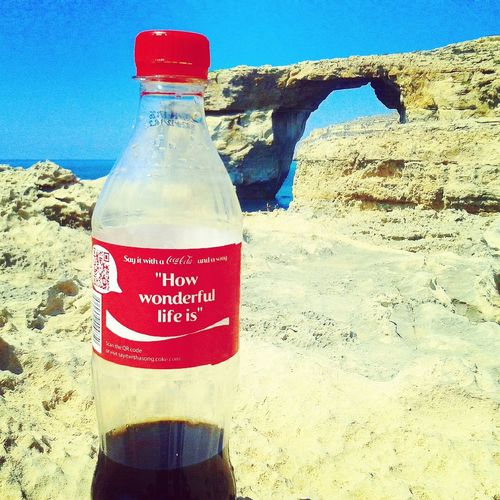 Cocacola Malta Blue Window Summer Holydays Sea