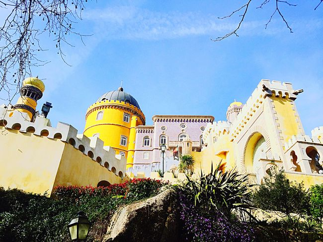 Sintra Hello World Palacios De Pena Holidays ☀ Lisboa Lisbonlovers Lisbon - Portugal Sintra (Portugal) Sintrasecrets Sintra Palace Park Fairytales & Dreams Fairytale Castle Fairytale Garden Fairyland Mustsee Beautiful Places Beautiful Places Around The World Beauty Redefined