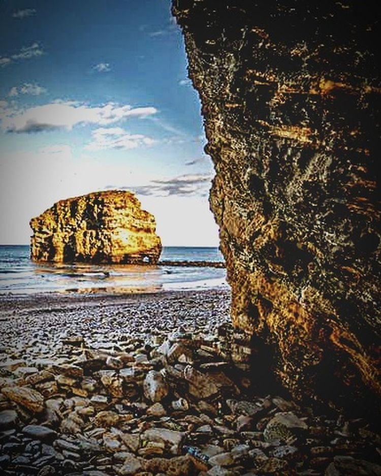 Sea Beach Horizon Over Water Rock - Object Nature Landscape Cave Water Natural Arch Marsden Rock