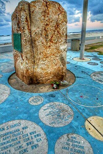 Cast in stone the names if iur veterans Enjoying Life Ocean Beach Remember The Dead Veterans To Remember