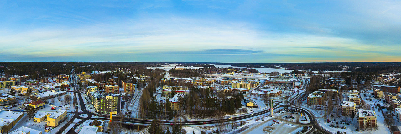 City Day Finland Nummela Panorama Small Town Suomi Town