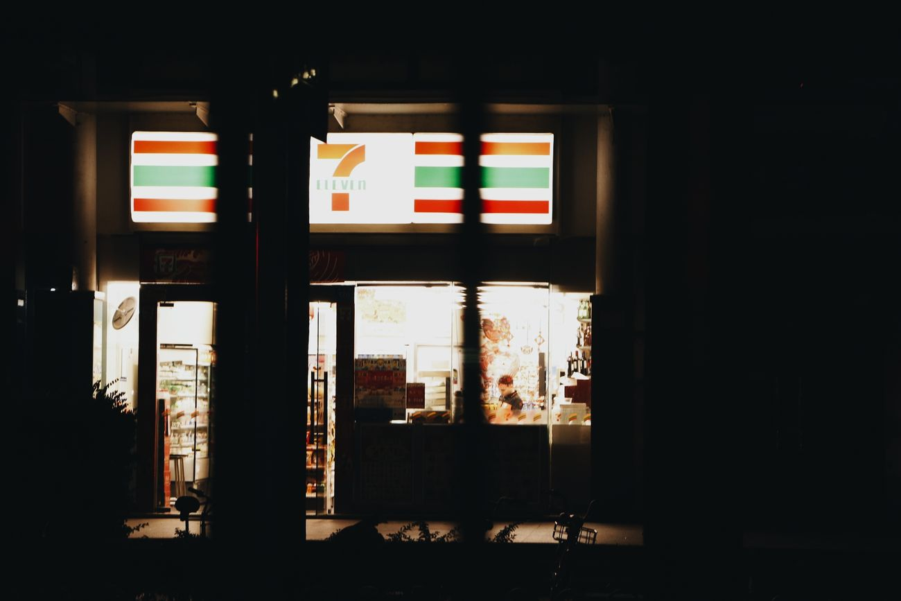 Dark Light And Shadow Night Photography Nightview Convenient Store