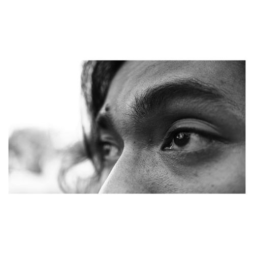 When I Look Your Eyes Happines Human Face Human Eye Eye Human Body Part Loneliness Portrait Adult Men Monochrome Young Adult One Person People One Man Only Close-up Adults Only White Background Desaturated Day First Eyeem Photo