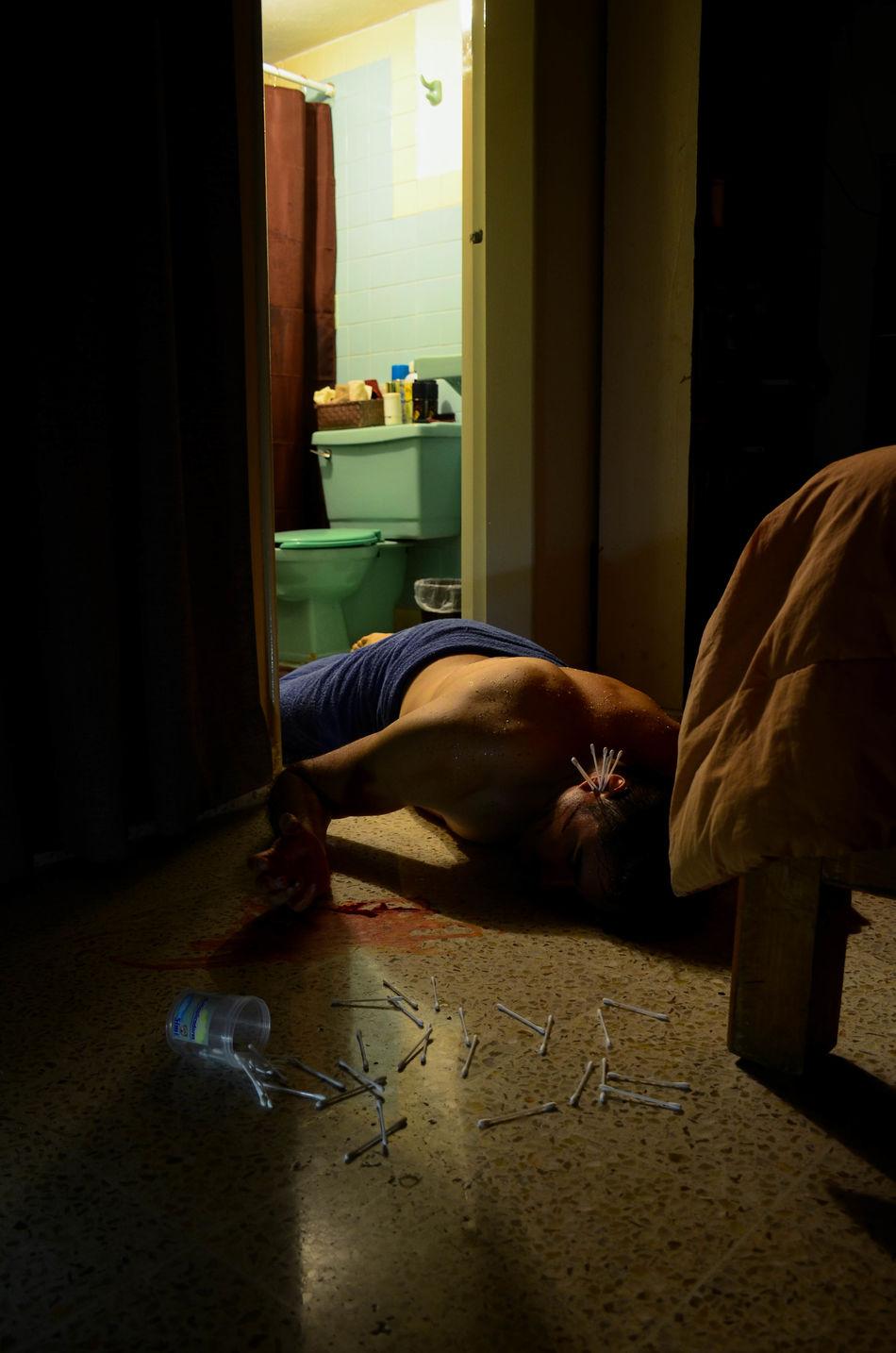 Bathroom Dead Men Cotton Swab Darkness And Light Bedroom