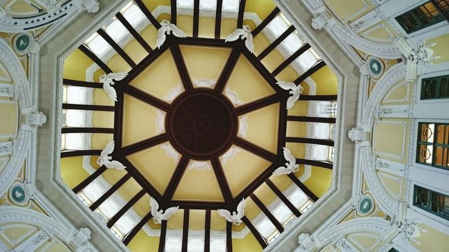 Japan Tokyo Tokyostation Ceiling Design Architecture Color Portrait Enjoying Life Holiday Colorful Colors Cityscapes