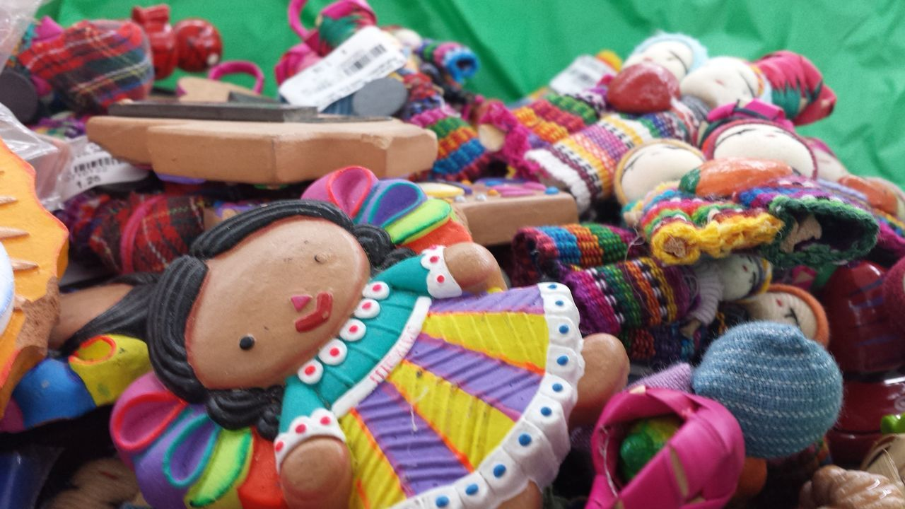 Culture Change Nation Rio Grande Valley Mexico Borders Cultures Accesories Toys Tourism Multi Colored Large Group Of Objects No People Close-up