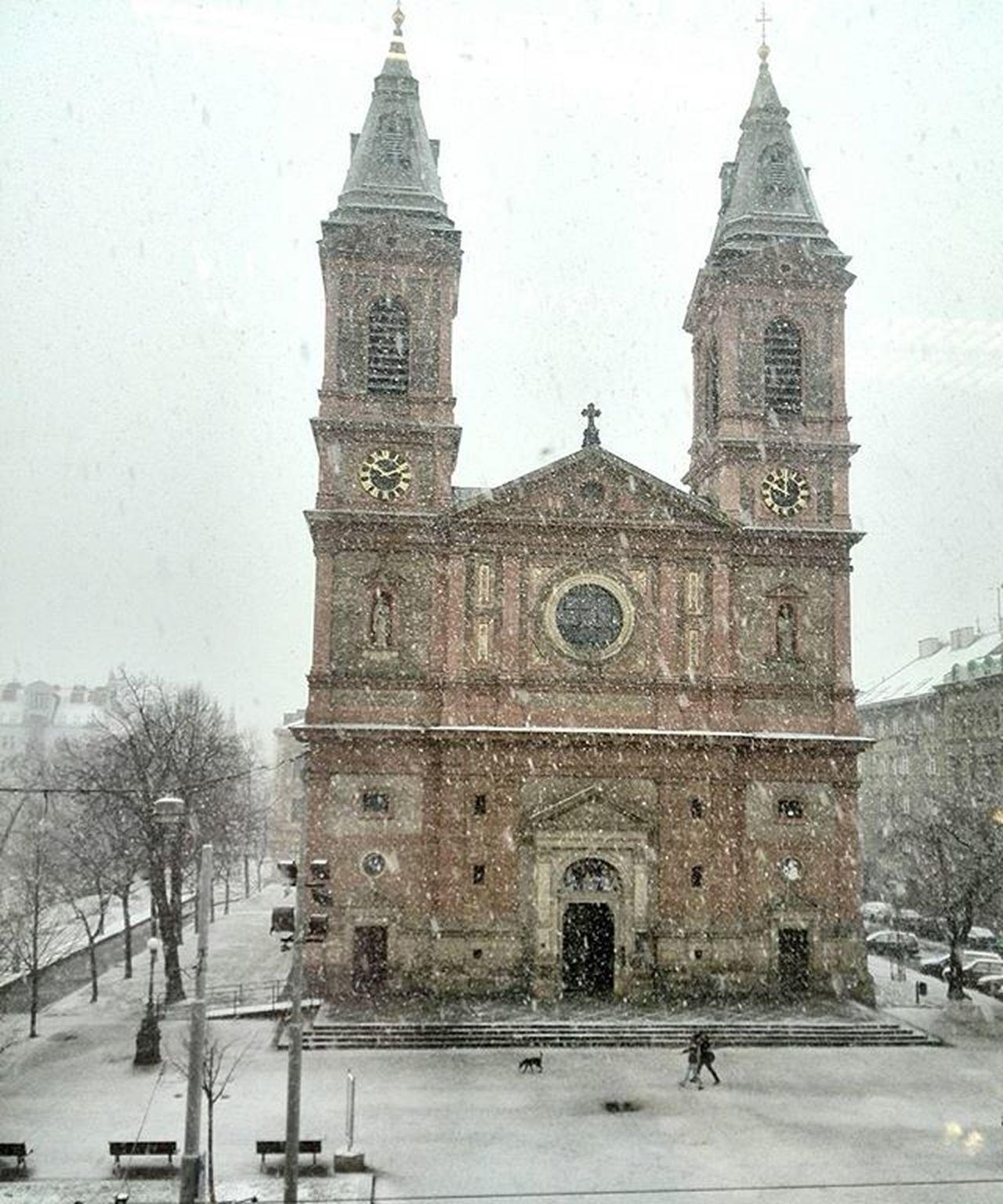 Zima Snih Kostel Snezi Praha Czech Igerscz Nas_svet Winter Snow Prague Church