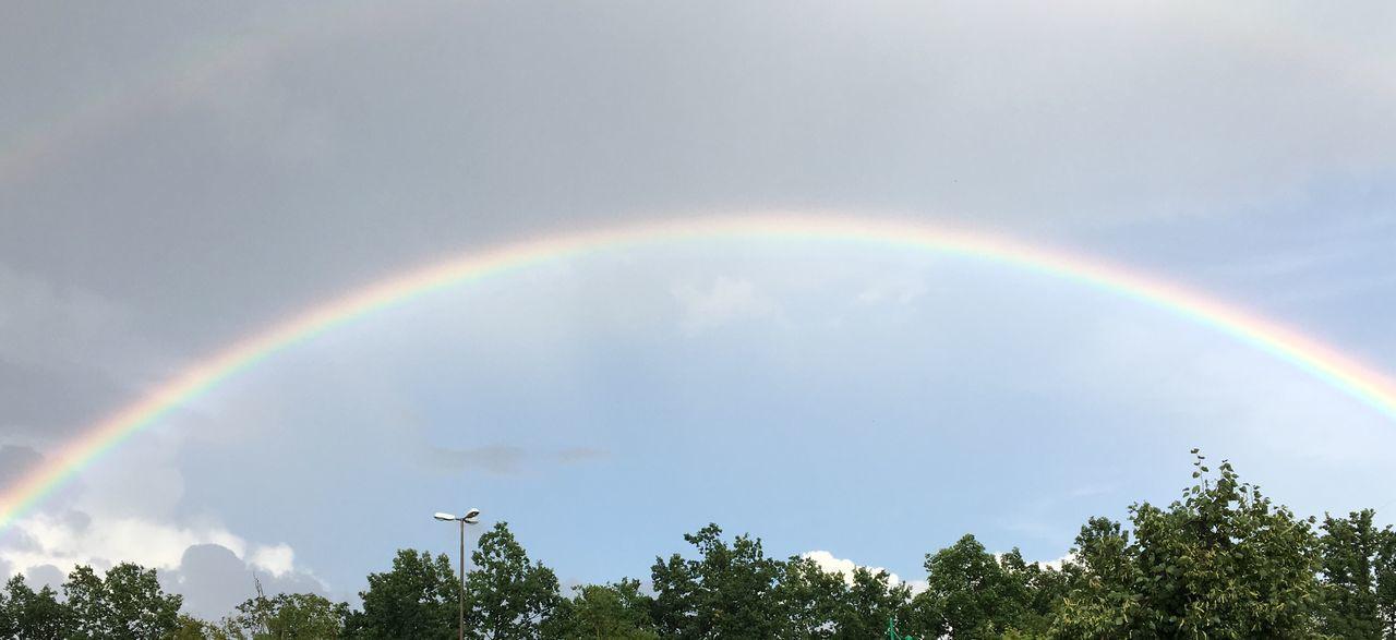 Regenbogen Regenbogen Rainbow Erlangen No People Sky