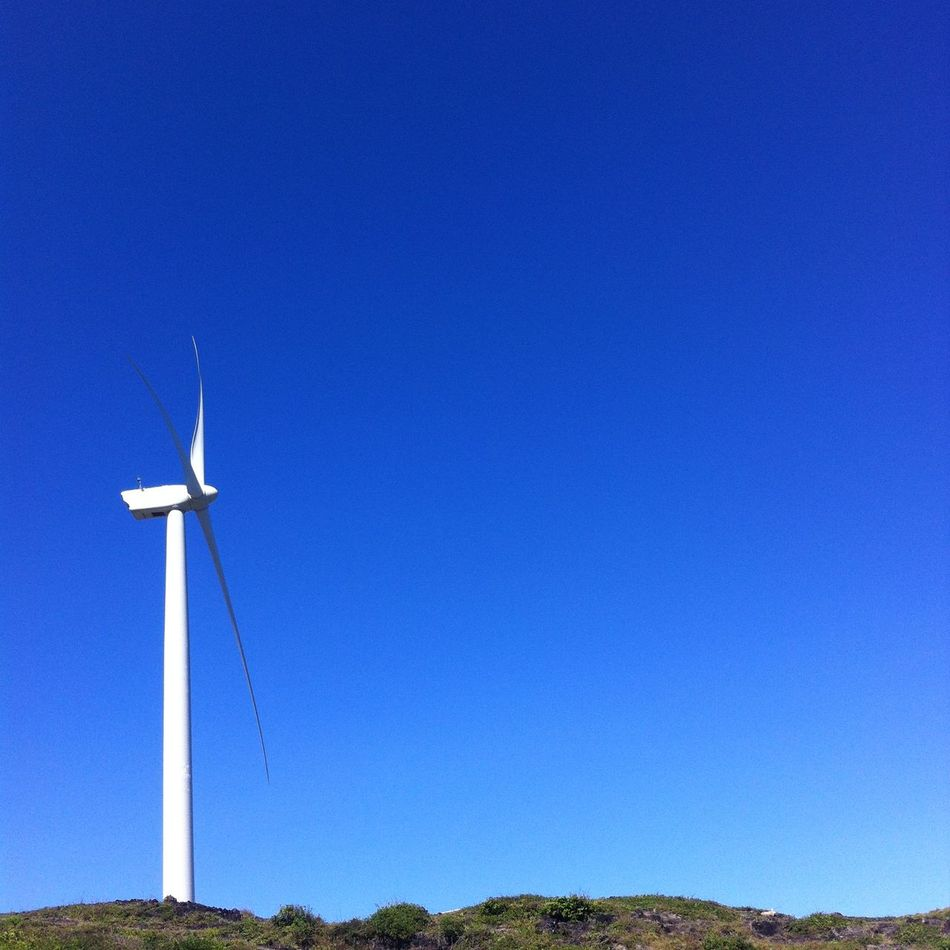 Alternative Energy Blue Clear Sky Cross Day Environmental Conservation Landscape Low Angle View Nature No People Outdoors Renewable Energy Wind Power Wind Turbine Windmill
