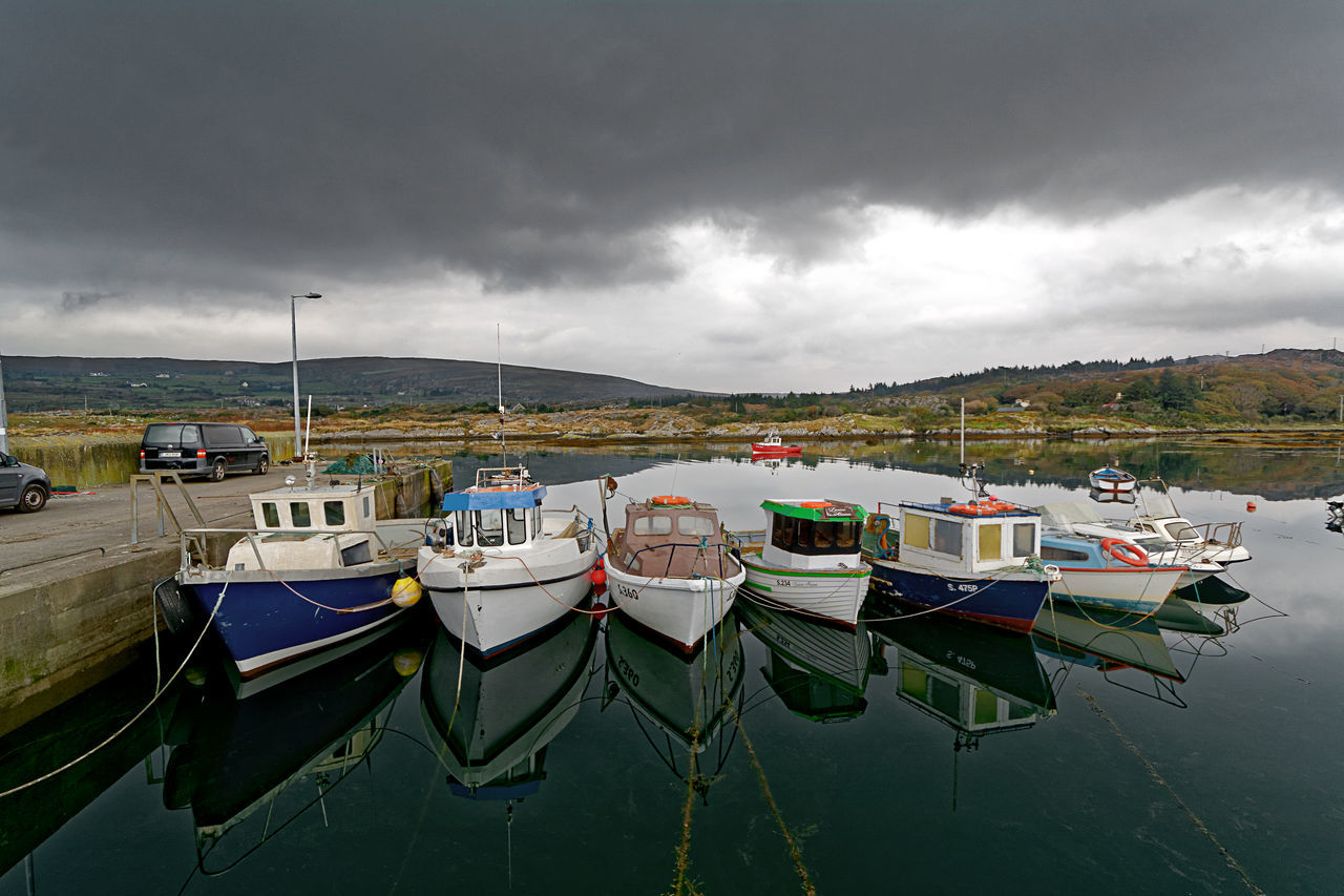 Pier And Small Boats Boat Boats Cloud Cloud - Sky Cloudy Cork Day Fishing Boats Ireland Pier And Small Boats Ireland Sea Moored Overcast Pier Pier And Boats Sea Sea And Dark Sky Sea And Sky Sky Small Fishing Boats Tranquility Water Weather West Cork Wild Atlantic Way