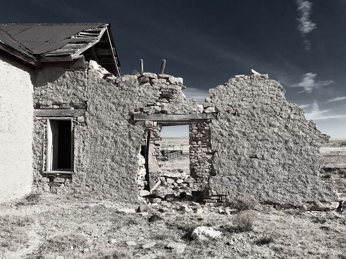 """""""Mystery Ranch No. 20"""" Last Stand. Old Ruin New Mexico Photography New Mexico Crumbling Abandoned & Derelict Abandoned Buildings Abandoned Places Abandoned Architecture Built Structure Building Exterior House No People Sky Abandoned"""