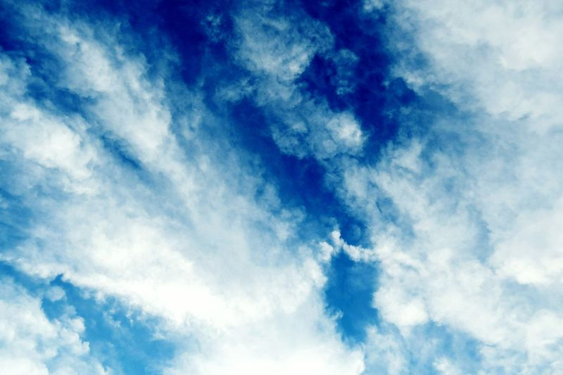 Sky Clouds Blu Blue And White Daydreaming Pattern Pieces