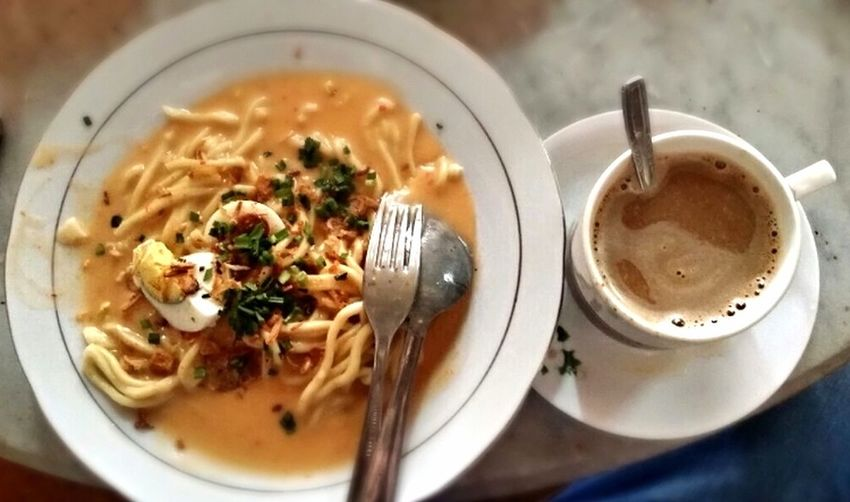 Mie Celor Noodles Coffee What Makes You Strong? Depth Of Field Everyday Joy Breakfast Traditionalfood South The Foodie - 2015 EyeEm Awards