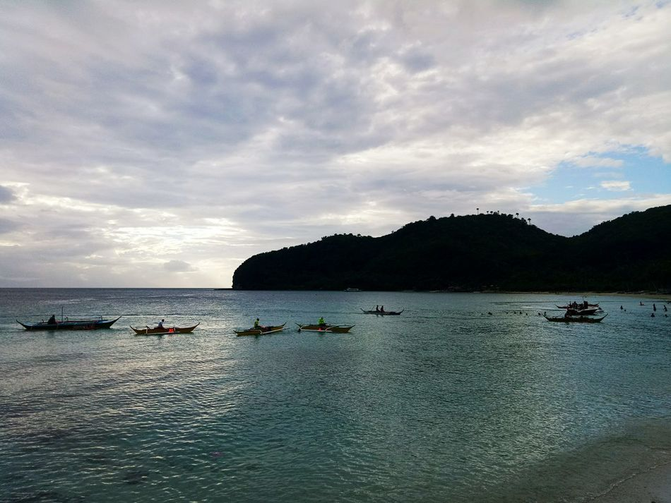 Dramatic Sky Cloud - Sky Boats⛵️ Beach Nature Beauty In Nature Outdoors Weekend Getaway Mode Of Transport Traveller Ilovephilippines ProudPinoy Eyeem Philippines My Year My View Mobilephotography Travel Destinations Weekend Escape Masasa Beach, Tingloy Island. Batangas