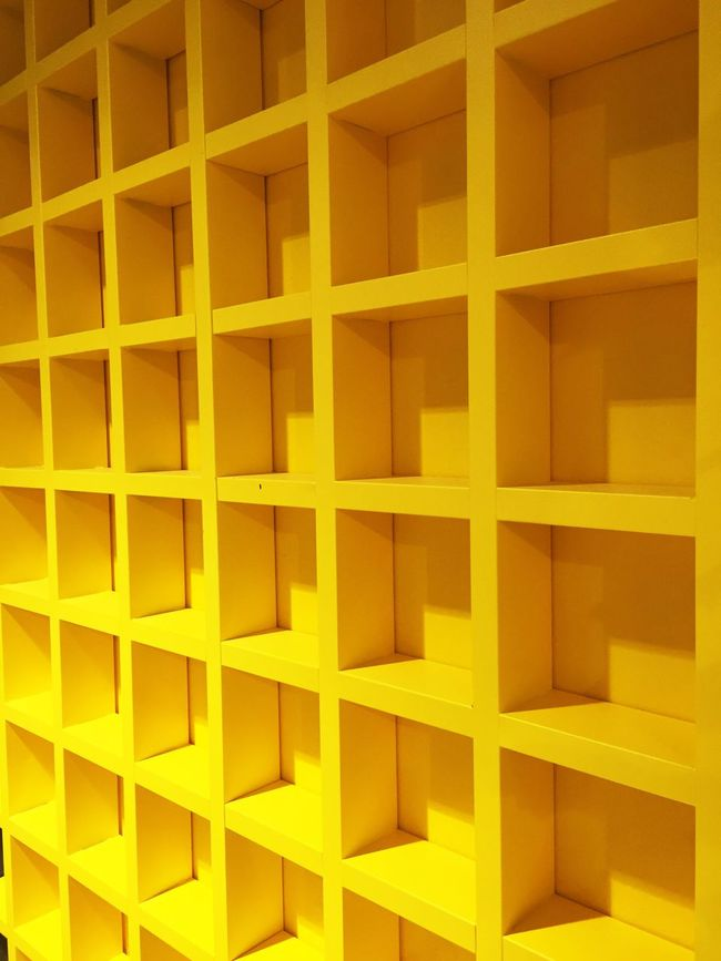 Yellow Pettern Yellow Color Yellow Squares Square Pattern Yellow Wall Colorful Wall Wallpaper Background Pattern Architecture