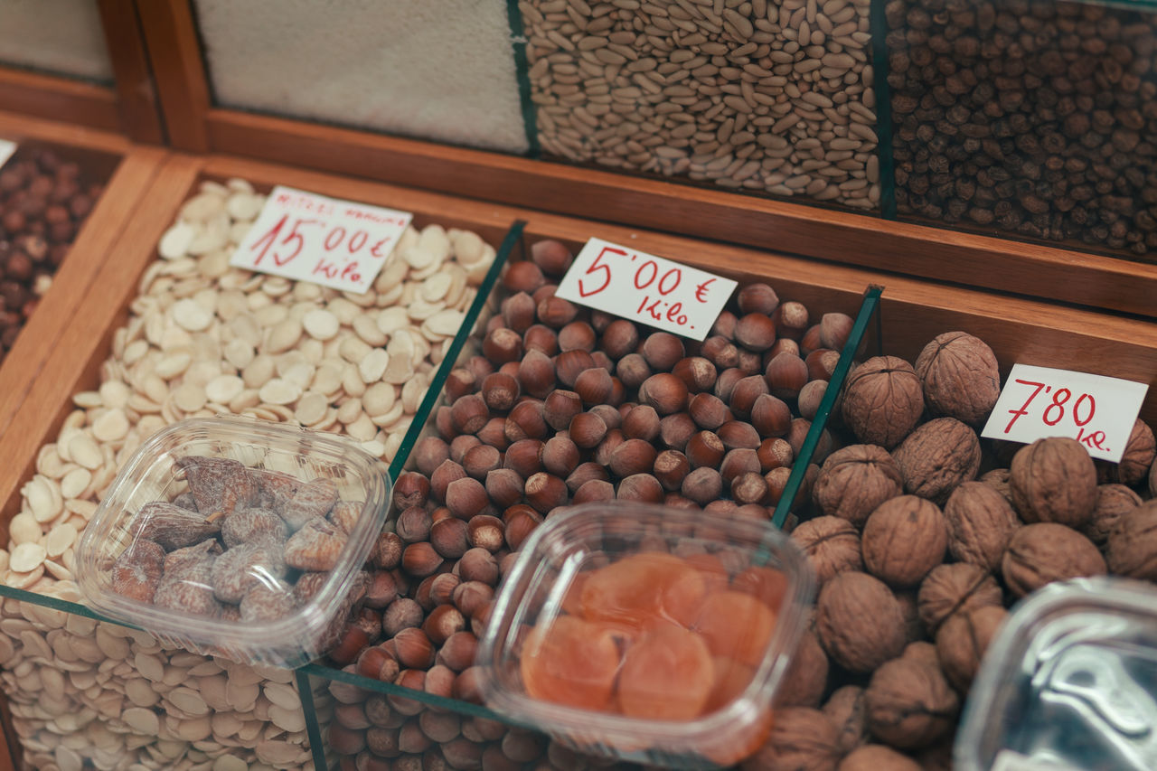 Best dried fruit in the world. Almond Almonds Bean Day Dried Fruit Food Food Staple Freshness Fruit Hazel Hazelnuts Healthy Eating Indoors  Market No People Nuts Nutshell Price Tag Variation