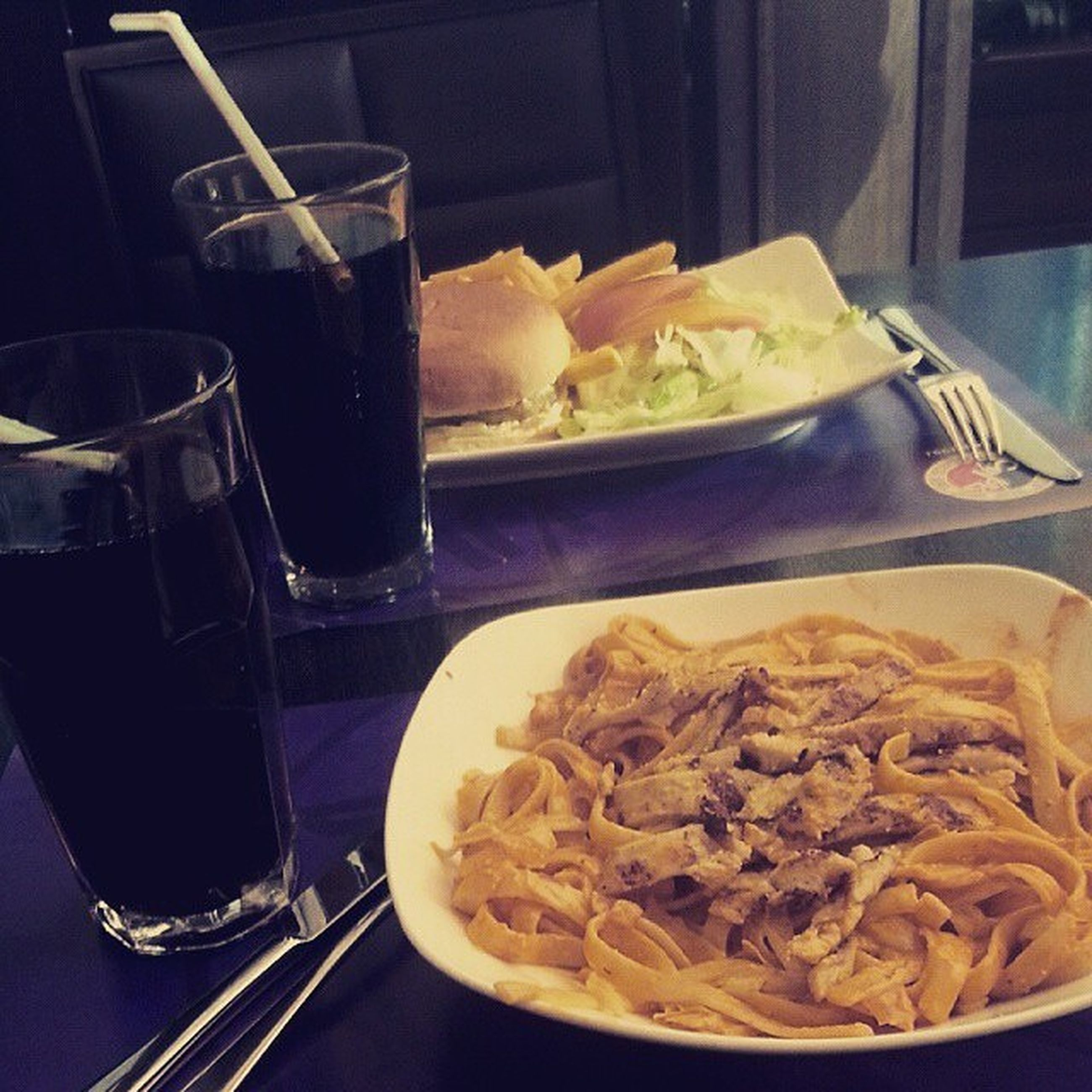 food and drink, indoors, food, freshness, ready-to-eat, table, plate, still life, healthy eating, meal, bowl, fork, serving size, close-up, restaurant, spoon, indulgence, chopsticks, drinking glass, noodles