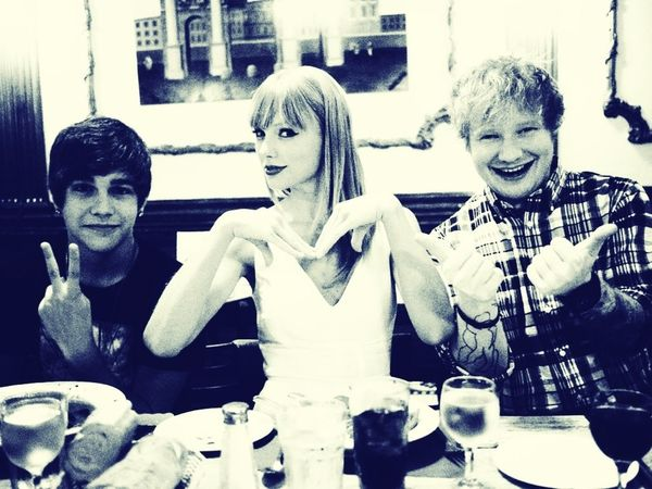Ed Sheeran Taylor Swift Austin Mahone  Red Seeing them tomorrow (: