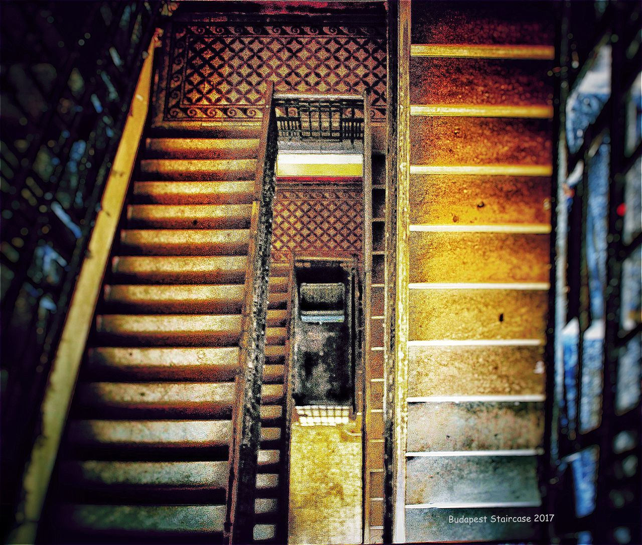 steps, staircase, steps and staircases, no people, architecture, built structure, rusty, indoors, day, hand rail, close-up