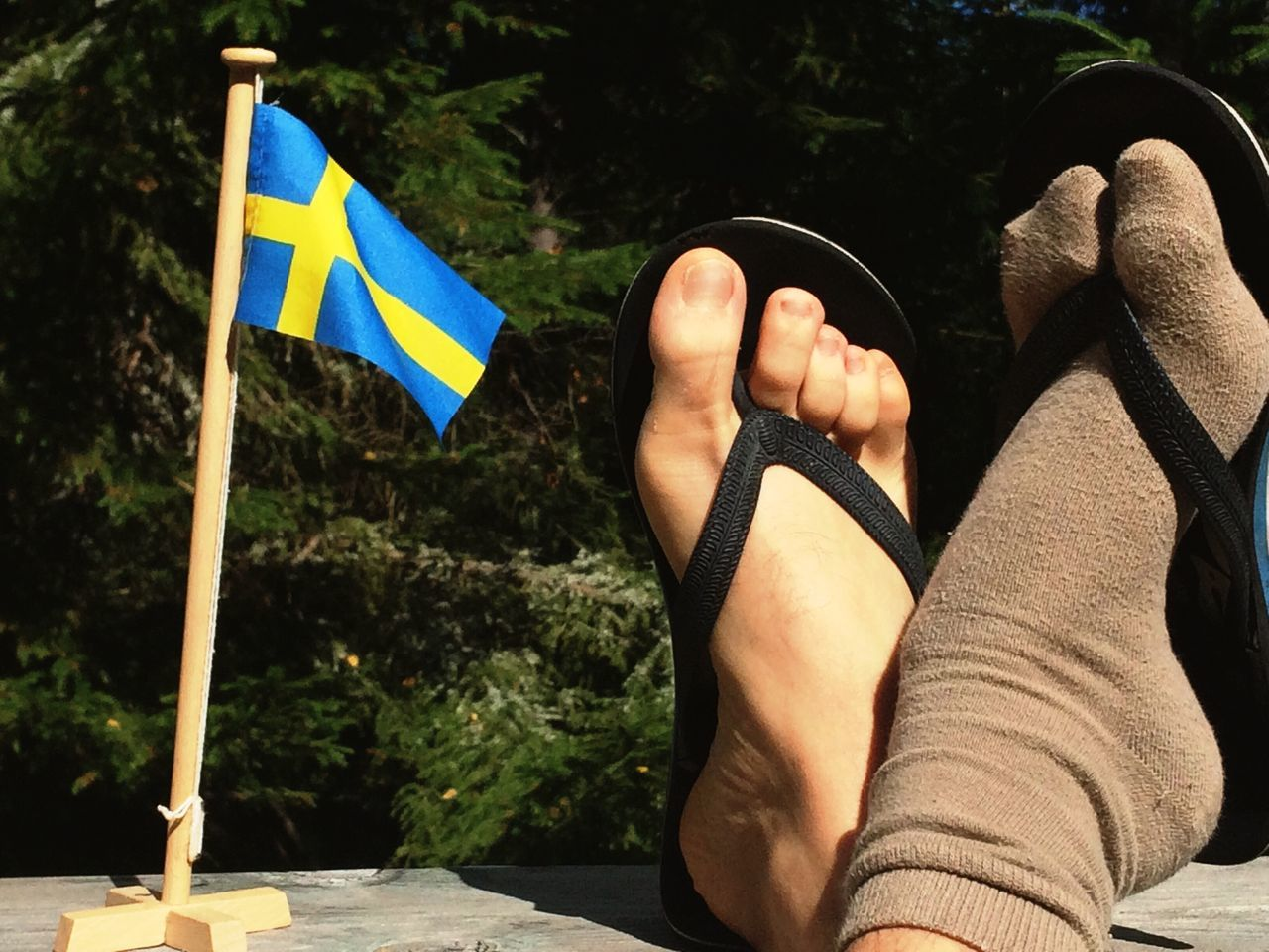 EyeEm Diversity Barefoot Flag One Person Human Leg Human Body Part Outdoors Adult