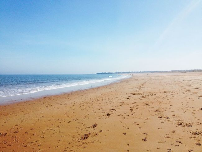 Blyth Beach Dogwalking Sunny Day Miles And Miles Sand & Sea Bluesky Smartphonephotography